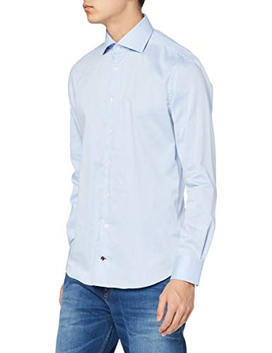 Tommy Hilfiger Core Twill Classic Shirt Chemise Business, Bleu (410), S Homme