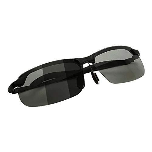 kowaku Gafas de Sol Polarizadas para Hombre, Conducción Al Aire Libre, Gafas de Sol Deportivas para Mujer, Estilo de Pesca - Negro polarizado