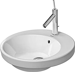 Duravit 2327480000 Vanity basin 480mm Starck 2 white countertop, w.OF, w.TP, 1 TH,