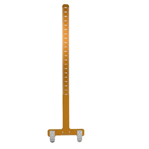 Gazechimp Pro Bogenschießen Sehnenmaßstab - Bogensport Nockpunkt Checker - Gold