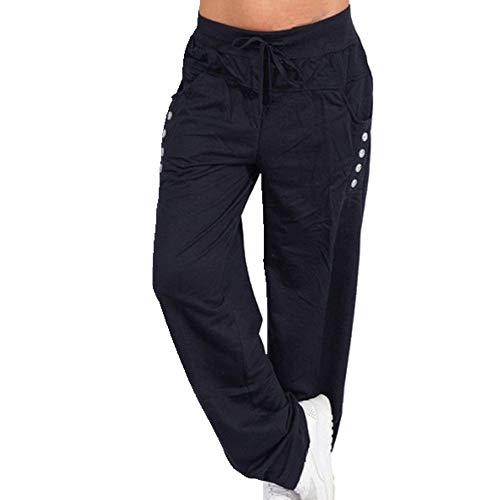 N\P Pantalones sueltos de las mujeres de talla grande pantalones deportivos ropa deportiva