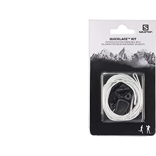 Salomon Quicklace Kit, Set di Lacci Per Scarpe, Semplifica la Calzata e Sfilamento, Bianco, L32667300