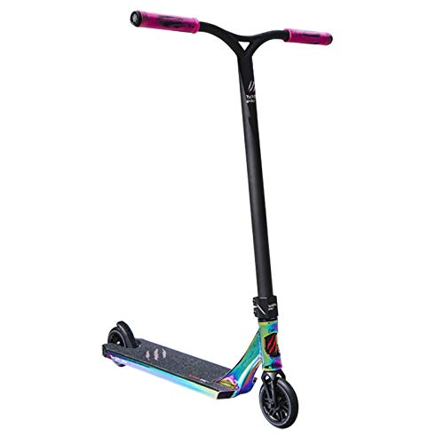 Bestial Wolf Rocky R12 Rainbow, Patinete Pro Scooter Freestyle Nivel Profesional Color Tabla Rainbow y Manillar Negro