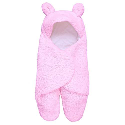 Bebe Bolsa de Dormir bebé recién Nacido Pierna Calentador más Velvet Edred, Tamaño: 29 cm x 55 cm (Rosa), Libre de Productos químicos Boyuewenhuachuanboyo (Color : Pink)
