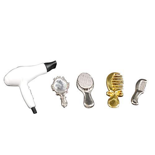 Faironly Mini-haardroger-kamset voor 1:12 poppenhuis accessoires