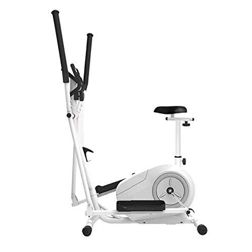 Máquina elíptica con asiento, entrenador elíptico portátil para ejercicios aeróbicos, equipo de aptitud cardio con monitor LCD y Máquina de elipse de volantes controlada magnética de BI direccional.