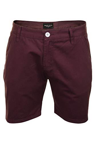 Brave Soul Herren Chino-Shorts (Pflaume) M