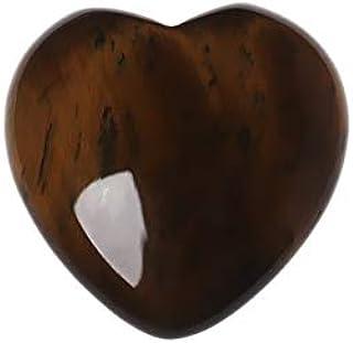 ZHAO Cristalli Gemme Naturali Quarzo Rosa Amore a Forma di Cuore gonfio Stone Love Cristallo Gemma (Color : 4 Tigereye)