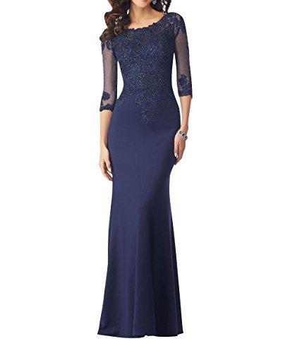Royaldress Elegant Spitze Langarm Abendkleider Brautmutterkleider Ballkleider Partykleider Lang Etuikleider Festlichkleider -48 Navy Blau