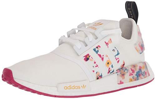 adidas Originals NMD_R1, Zapatillas Deportivas. para Mujer, Color Blanco y Rosa, 37 1/3 EU