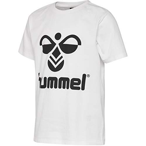 Hummel Maglietta Unisex per Bambini Hmltres S/S Top, Unisex - Bambini, Tops, 204204, Bianco, 128