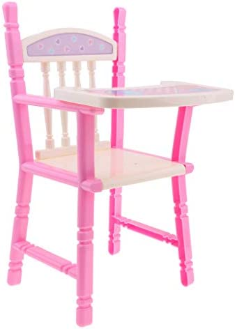 koolsoo Pink High Chair for Dolls Baby Doll High Chairs and Toy Furniture product image