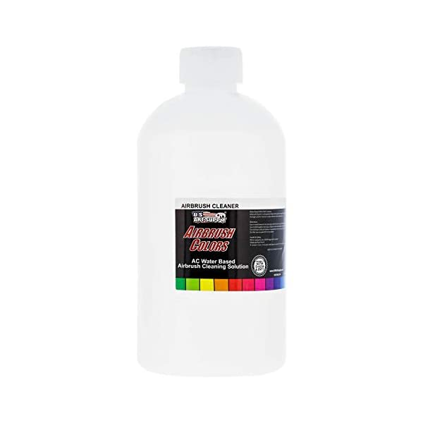 US-Art-Supply-Airbrush-Cleaner-16-Ounce-Pint-Fast-Acting-for-Airbrush-Paint-Make-Up-Tanning-Cake-Airbrush-Colors