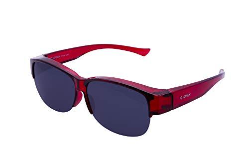 Joysun polarisierte LensCovers Sonnenbrille Unisex tragen über Korrekturbrille 8008R1