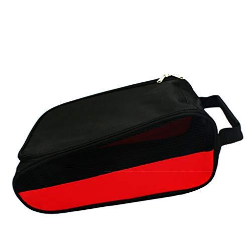 yhdcc44 Golf-Schuh-Taschen, Aufbewahrungstasche, wasserdicht, staubdicht und atmungsaktiv, verschleißfest und langlebig (rot)