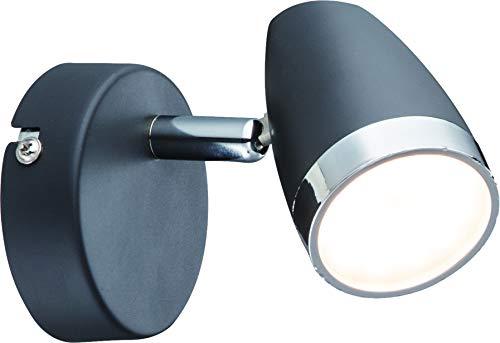 DM Leuchten Wandlampe Deckenlampe LED Lampe schwenkbar 1 flammig inkl. Leuchtmittel 1x 4 Watt, warmweiß, LED Wandleuchte Deckenleuchte LED Strahler LED Spot, Anthrazit