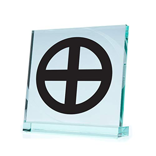 Religion Various sizes Decal Sticker Bolgar Sunwheel Solar Woden Cross Vehicle Weat Black (8 X 8 Inches)