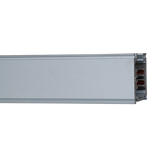 SLV EUTRAC 3PHASEN-AUFBAUSCHIENE Stromschiene Indoor-Lampe Aluminium/Kunststoff Schwarz Lampe innen, Innen-Lampe