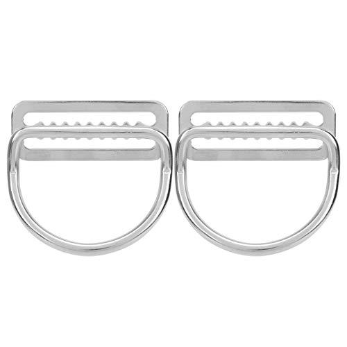 DAUERHAFT Tope de cinturón de lastre con Anillo en D de cincha con un diseño Plegable pequeño Durable y Resistente a la corrosión, para la mayoría de Las Hebillas de Cinturones de lastre