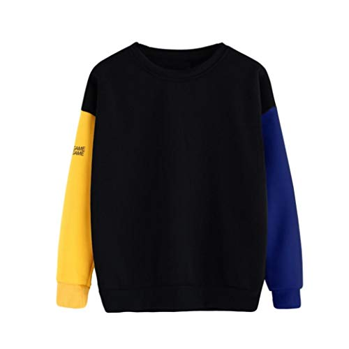 TWIFER Plus Size Damen Pullover Langarm Bluse Brief Sweatshirt Top T-Shirt Streetwear