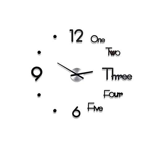 Orologio da parete 3D fai da te, orologio da parete moderno impermeabile adesivo acrilico grande orologio da parete grande orologio senza cornice design moderno per per ufficio cucina camera da letto