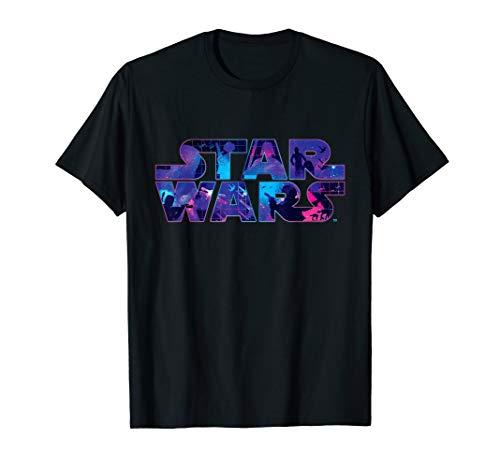 Star Wars Logo Retro 90s Twinkling Stars T-Shirt