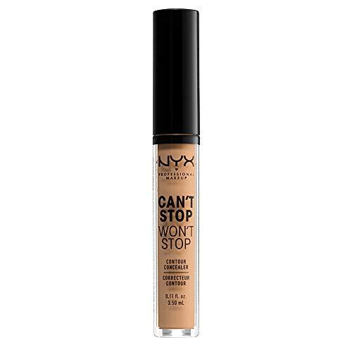 NYX Professional Makeup Correttore Can't Stop Won't Stop, Correttore Viso Liquido, Adatto a Tutti gli Incarnati, Soft Beige, Confezione da 1