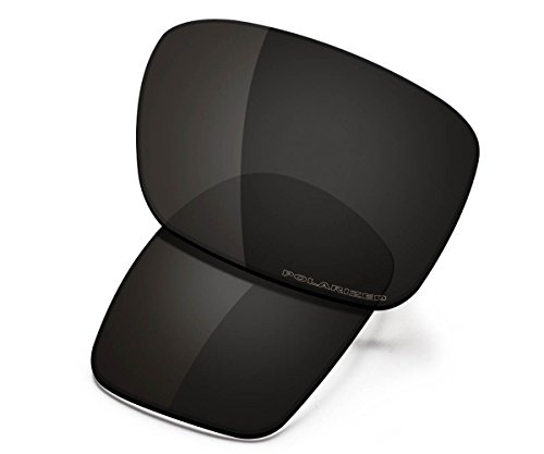 Saucer Premium Replacement Lenses for Oakley Holbrook OO9102 Sunglasses High Defense - Carbon Black Polarized