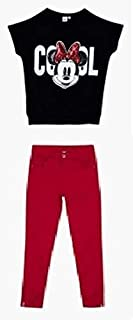 Disney Multi Color Round Neck Clothing Set For Girls