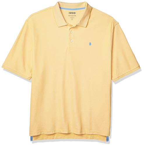 IZOD Men's Big & Tall Big Advantage Performance Short Sleeve Solid Polo Shirt, Sundress Yellow, XX-Large Tall
