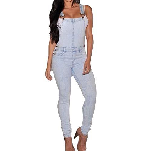 Peto Jeans Mujer Elásticos Skinny Straps Ajustable Vaqueros Festival de Moda Peto...