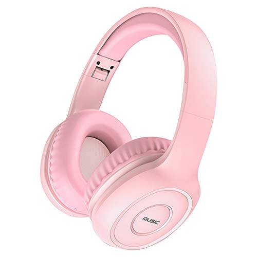 Auriculares inalámbricos estéreo ligeros y plegables | Headphones cancelación de ruido Headsets Bluetooth Over Ear con orejeras de proteína para móvil teléfono PC computadora