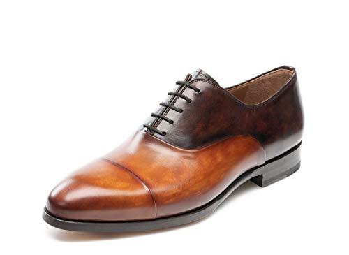 Z.L.F Mens Classic Retro Oxford Flat Heel Business Shoes Up to Size 44EU Leather Shoes M US Color : Blue, Size : 9 D