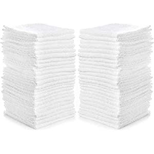 Novelty 6pcs White Square Cotton Face Hand Car Cloth Towel House Cleaning JP