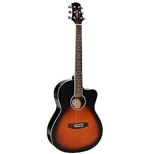 Ashton D10CEQ 39-inch Cutaway Electro Acoustic Guitar with EQ 3