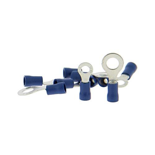 XL Tech 102820 10 cosses oeillet Coloris Bleu 4mm + 5 x diamètre 6mm