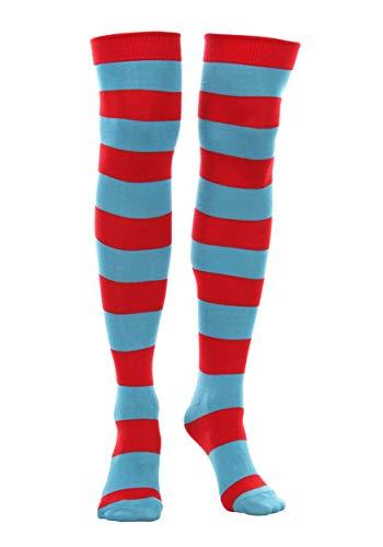 Dr. Seuss Thing 1 & Thing 2 Striped Knee High Socks Redblue