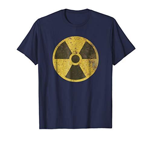 Biohazard Radioactive Symbol Old Vintage Rusted Sign T-shirt