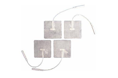 PG471W wegwerp-elektrostimulatieelektrostimulatietechniek van geleidende stof met stekker en kabel - rechthoekig (46mm x 47mm)