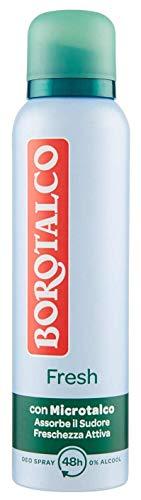 Borotalco, Deodorante Roll-On Fresh con Microtalco, Assorbe il Sudore, Senza Alcool, Pelle Morbida e Idratata, Profumo Fresco e Agrumato, Deodorante Uomo e Donna - Flacone da 150 ml