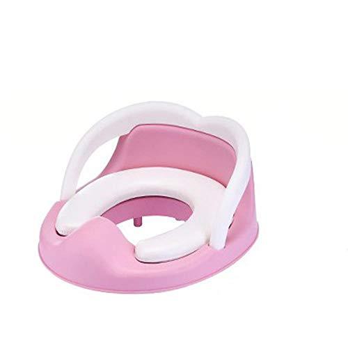 Pot de formation de siège Pot de bébé portable mignon siège de toilette urinoir pot pour enfants avec siège de pot rembourré amovible-rose