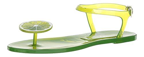 Katy Perry Womens The Geli Flache Sandale, Lime, 38 EU