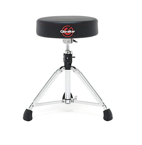Gibraltar 9608 percussion stool Semi (height adjustable 50-64cm, three legs with rubber feet, collapsible)