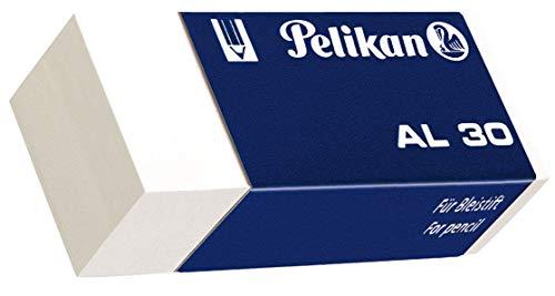 Pelikan Gomme da Cancellare, AL 30, Bianca, Confezione Risparmio da 30 Pezzi, per Matita in Grafita- per Disegno Tecnico e Scolastico, Prodotto in Germania
