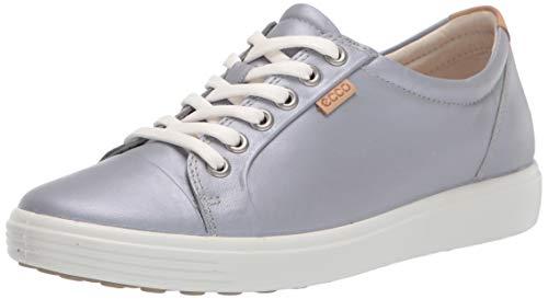 ECCO Damen Soft 7 W Sneaker, Silver Grey Metallic, 40 EU