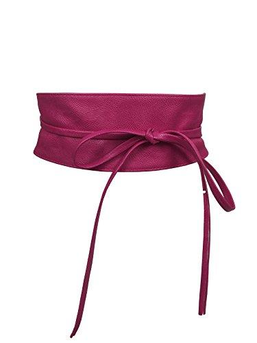 CALIYO Taillengürtel Taillen Gürtel Damen Gürtel für Damen Wickelgürtel Bindegürtel in modischen Farben One Size SA-46 (Pink)