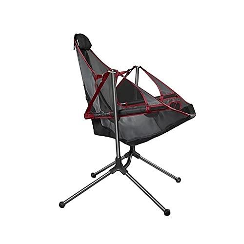 LICHUAN Silla de camping ultraligera plegable al aire libre, cómoda silla de campamento de pesca para camping, playa, viajes, picnic (color rojo)