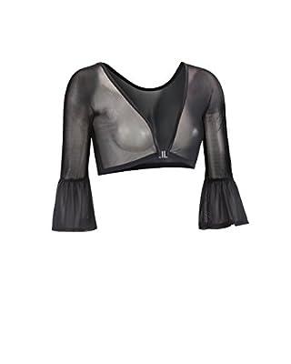 Sleevey Wonders Women's Bell 3/4 Length Slip-on Mesh Sleeves S Black by Sleevey Wonders