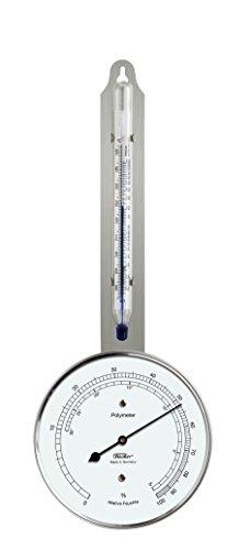 Fischer 125.01 - Polimero (Igrometro-Termometro), acciaio inossidabile, Diametro 103 mm, umidità da 0 a 100{f21fd796a7533903f688c15be85beb99934642386c982bceba70042838c08122} RH, temperatura da -35 a +55 °C