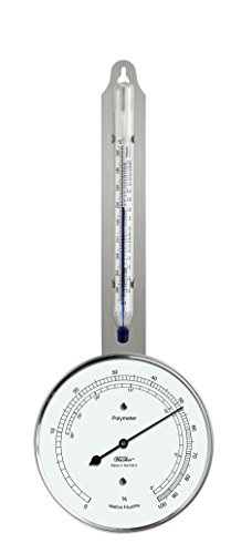 Fischer 125.01 - Polymeter (Hygrometer-Thermometer), Stainless steel, Diameter 103 mm, Humidity 0 to 100% RH, Temperature -35 to +55 °C
